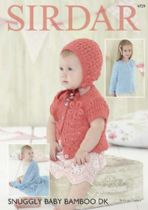 Sirdar Snuggly Baby Bamboo DK - 4729 Cardigans, Hat & Blanket Knitting Pattern